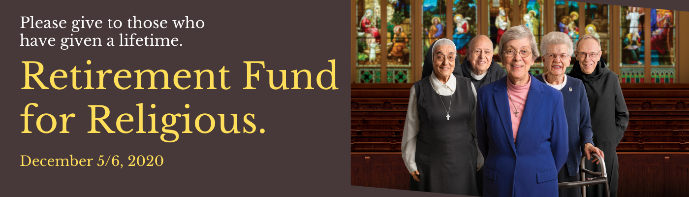 Support the Religious Retirement Fund on December 5 & 6