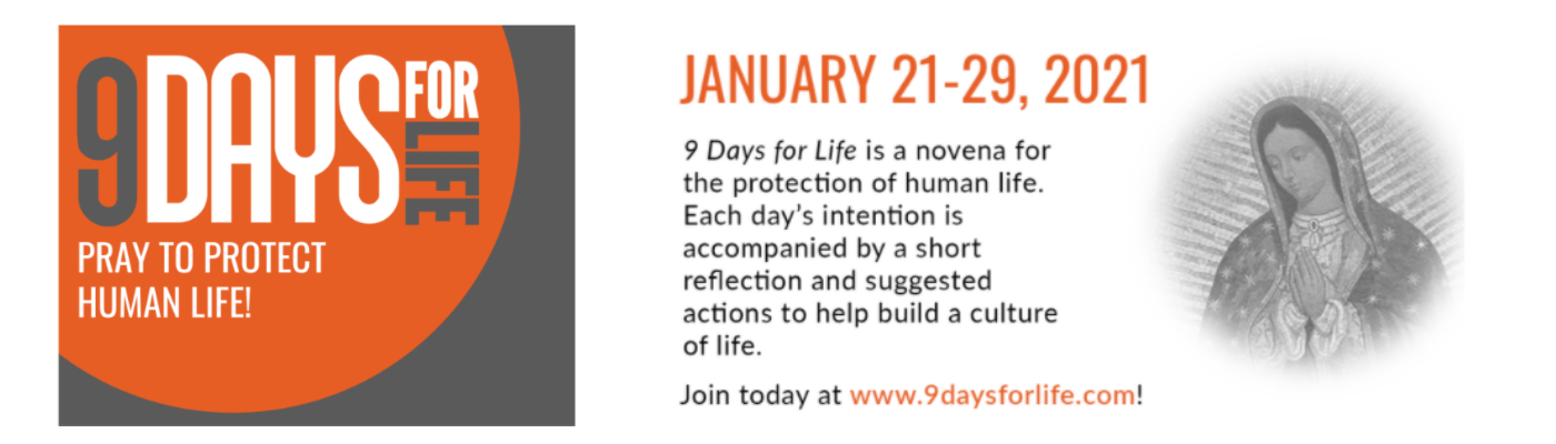 9 Days for Life begins January 21st