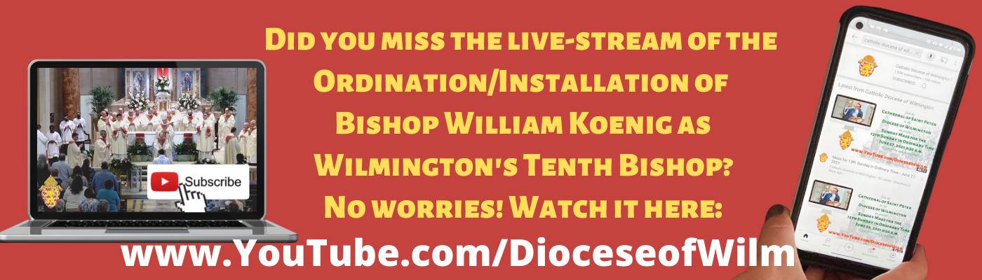 Watch the ordination/installation of Bishop-elect Koenig
