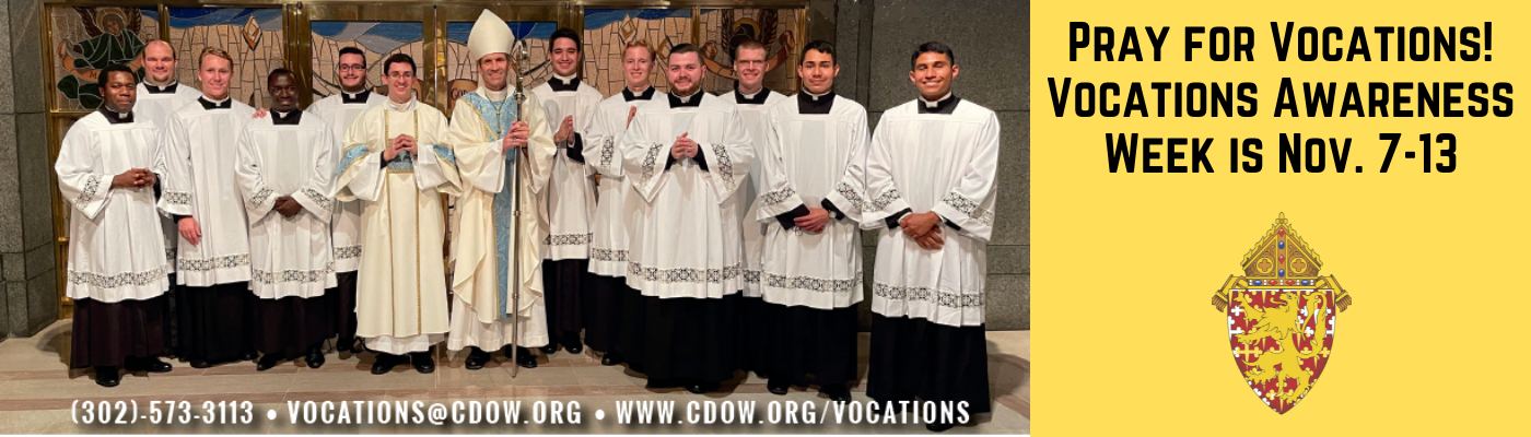 Vocations Awareness Month is November 7 – 13