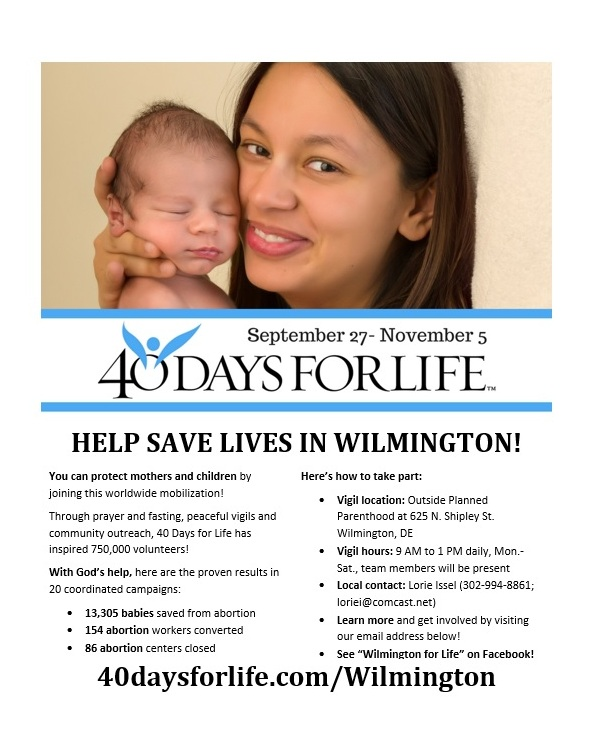 40 Days for Life Flyer 2017