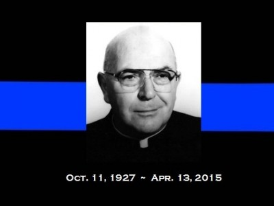 Father Oscar Frundt, long-time chaplain of the Delaware State Police, will be remembered at the Blue Mass celebrated by Bishop Malooly in thanksgiving for the dedicated service of the men and women in public safety and the United States Armed Forces. All are invited to attend and pray for our heroes.  Learn more about Fr. Oscar Frundt here.