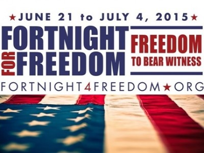 "The Fortnight for Freedom: Freedom to Bear Witness will take place from June 21 to July 4, 2015, a time when our liturgical calendar celebrates a series of great martyrs who remained faithful in the face of persecution by political power—St. Thomas More and St. John Fisher, St. John the Baptist, SS. Peter and Paul, and the First Martyrs of the Church of Rome. The theme of this year's Fortnight will focus on the ""freedom to bear witness"" to the truth of […]"