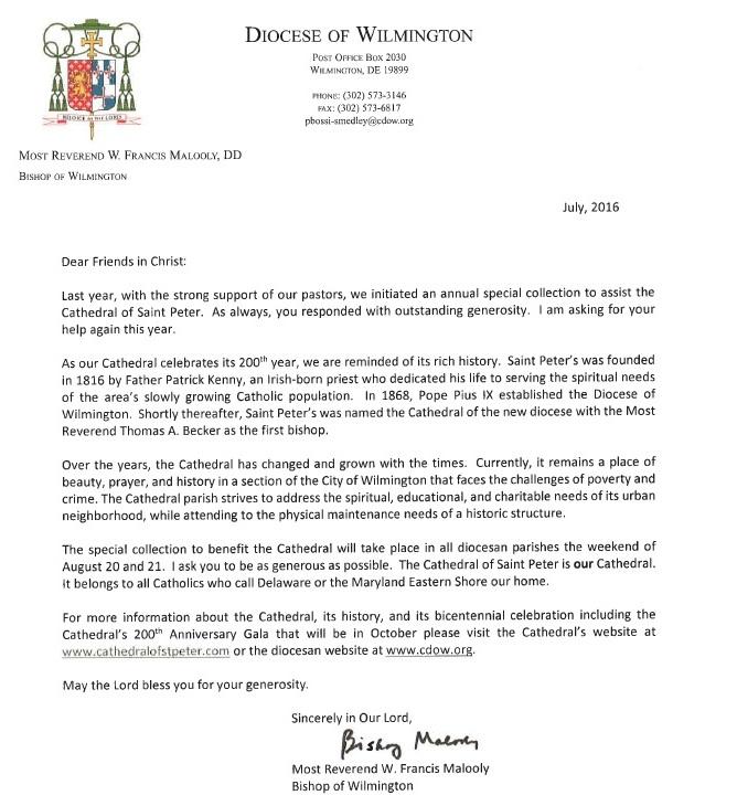 2016 Bishops Letter