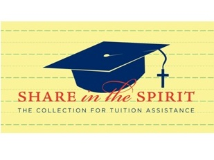 Share in the Spirit is an annual collection of the Diocese of Wilmington conducted at all Masses during the fourth weekend of September. This collection offers parishioners the opportunity to show their support of Catholic education and to assist the diocese in its effort to provide a Catholic education to every child who desires one.