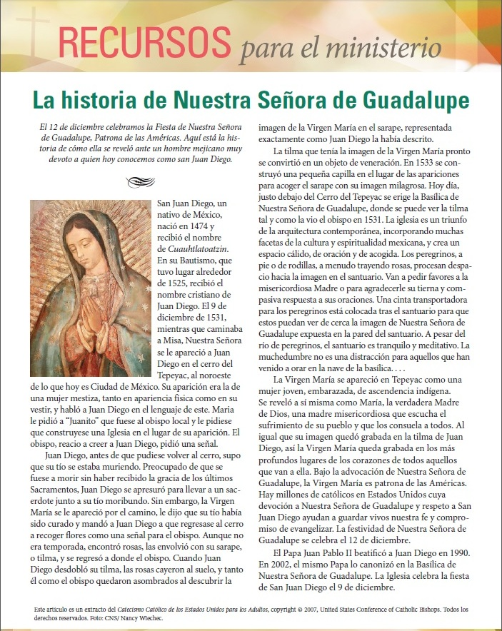 The Story of Our Lady of Guadalupe Spanish