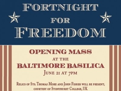 The Fortnight for Freedom: Witnesses to Freedom will take place from June 21 to July 4, 2016, a time when our liturgical calendar celebrates a series of great martyrs who remained faithful in the face of persecution by political power—St. Thomas More and St. John Fisher, St. John the Baptist, SS. Peter and Paul, and the First Martyrs of the Church of Rome. You are invited to attend a special Mass to begin the Fortnight for Freedom on […]