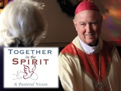 """I am optimistic for the future of our Diocese and have great hope that some of the changes that I have outlined will make us stronger, more united, and more sound in our pastoral operations. Let us patiently allow God's wondrous love for us to empower our Church with the peace that is beyond all understanding, the peace only Christ can give, the remarkable peace that the whole world knew on that first Pentecost day."""