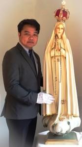 Mr. Patrick Sabat & International Pilgrim Virgin Statue of Our Lady of Fatima