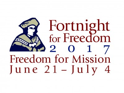 """""""We must promote religious liberty for all people. Every man and woman must be free to profess his or her faith, whatever it may be. Why? Because that man and that woman are children of God."""" – Pope Francis The Fortnight for Freedom is from June 21—the vigil of the Feasts of St. John Fisher and St. Thomas More—to July 4, Independence Day."""