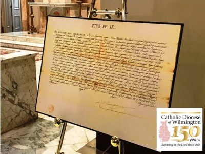 Watch highlights from the March 3, 2018 150th Anniversary Opening Mass, including Bishop Malooly's homily and the designation of Historic Pilgrimage Churches in Delaware and Maryland's Eastern Shore: Bishop Malooly celebrated the Diocese of Wilmington's Sesquicentennial Kick-off Mass on Saturday, March 3, 2018 at the Cathedral of Saint Peter, Sixth and West Streets in Wilmington. Catholics from across Delaware and Maryland's Eastern Shore gathered Gather to pray and give thanks.  Diocese of Wilmington was founded by Blessed Pope Pius IX on […]