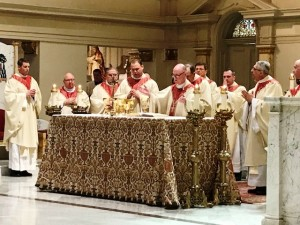 About two dozen priests attended the March 3, 2018 Opening Mass